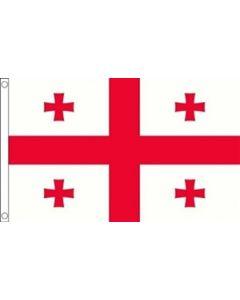 Georgia Satin Flag (15x22cm)
