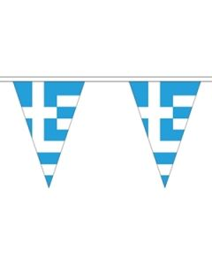 Greece Triangle Buntings 20m (54 flags)