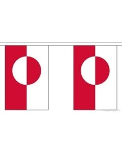 Greenland Paper Buntings 4m - 10 flags (A4)