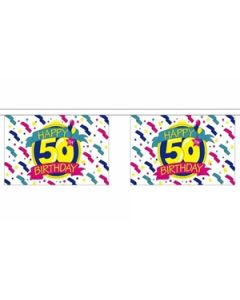 Happy 50th Birthday Buntings 9m (30 flags)