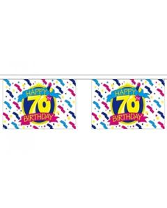Happy 70th Birthday Buntings 9m (30 flags)
