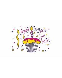 Happy Birthday Cake Flag (60x90cm)