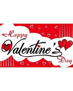 Happy Valentines Day Flag (60x90cm)