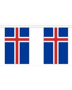 Iceland Paper Buntings 4m - 10 flags (A4)
