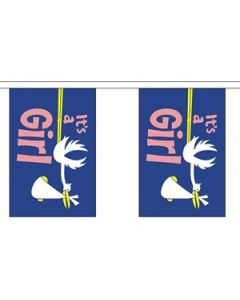 Its a Girl Buntings 3m (10 flags)