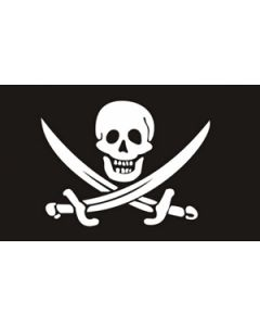 Jack Rackham Satin Flag (15x22cm)