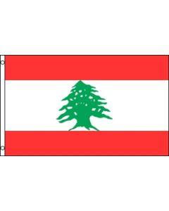 Lebanon Satin Flag (15x22cm)