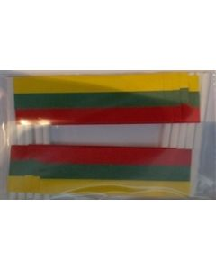 Lithuania Toothpick Paper Flags (30x48mm)