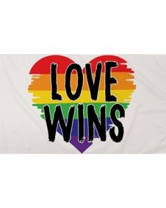Love Wins Flag (90x150cm)