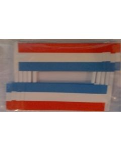 Luxembourg Toothpick Paper Flags (30x48mm)