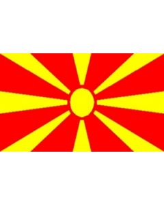 Macedonia Satin Flag (15x22cm)