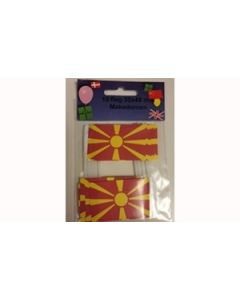 Macedonia Toothpick Paper Flags (30x48mm)