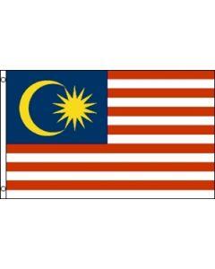 Malaysia Satin Flag (15x22cm)