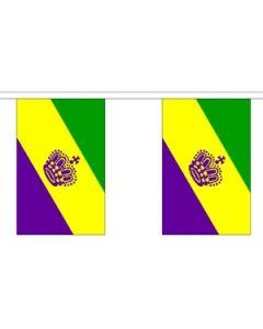 Mardi Gras Buntings 9m (30 flags)