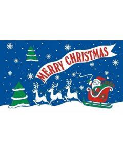 Merry Christmas Blue Flag (60x90cm)
