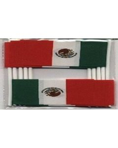Mexico Toothpick Paper Flags (30x48mm)