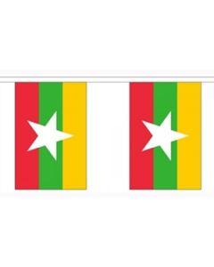 Myanmar (Burma) Buntings 9m (30 flags)