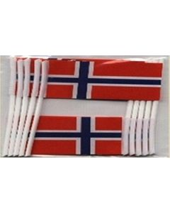 Norway Toothpick Paper Flags (30x48mm)