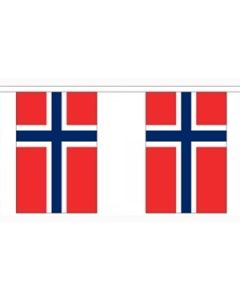 Norway Paper Buntings 2.8m - 10 flags (A5)