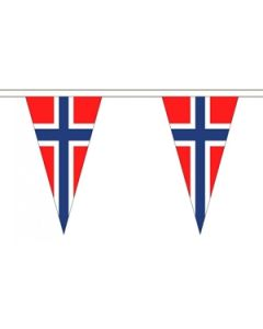 Norway Triangle Buntings 20m (54 flags)