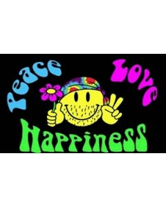 Peace Love and Happiness Flag (60x90cm)