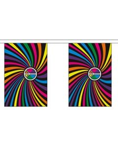 Rainbow Swirl Buntings 3m (10 flags)