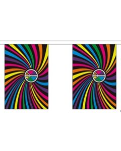 Rainbow Swirl Buntings 9m (30 flags)