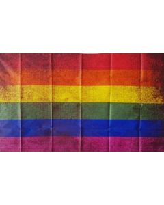 Rainbow Vintage Flag (90x150cm)