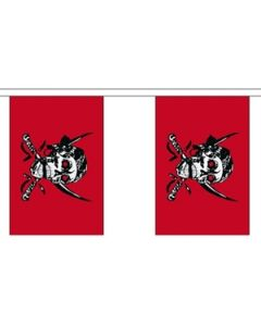 Red Skull Buntings 3m (10 flags)