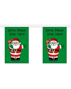 Santa Stop Here Buntings 3m (10 flags)