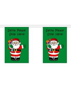 Santa Stop Here Buntings 9m (30 flags)