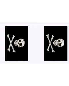 Skull and Crossbones Buntings 9m (30 flags)