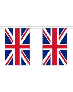 United Kingdom Paper Buntings 4m - 10 flags (A4)