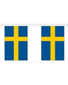 Sweden Paper Buntings 2.8m - 10 flags (A5)