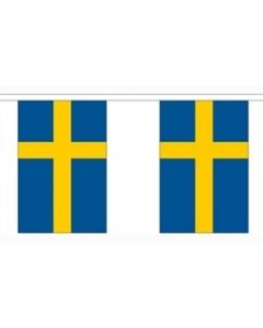 Sweden Paper Buntings 4m - 10 flags (A4)