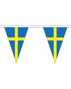 Sweden Triangle Buntings 5m (12 flags)