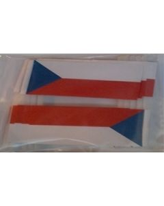 Czech Republic Toothpick Paper Flags (30x48mm)