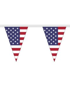 USA Triangle Buntings 5m (12 flags)