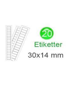 Czech Republic Stickers (14x30mm)