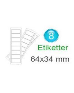 Dannebrog Stickers (34x64mm)
