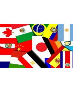Haiti Sprinkle Flags (30x48mm)